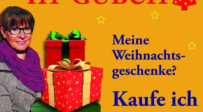 Plakataktion zum Weihnachtseinkauf