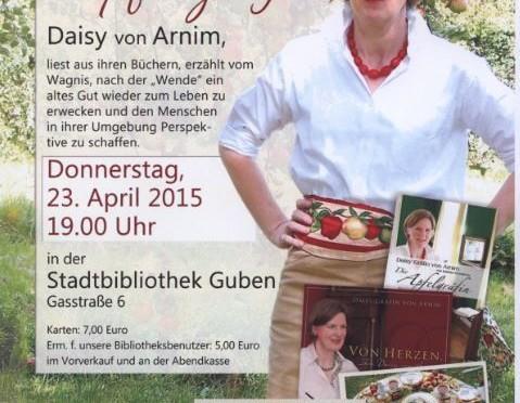 """""""Apfelgräfin"""" Daisy von Arnim zu Gast in der Gubener Stadtbibliothek"""