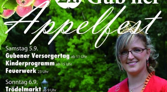 Programm zum 21. Gub'ner Appelfest