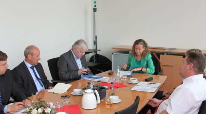 Brandenburgs Finanzstaatssekretärin besucht Stadt Guben