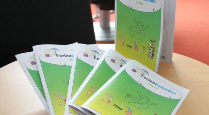 Ferienkalender 2016 für die Stadt Guben ist ab sofort erhältlich