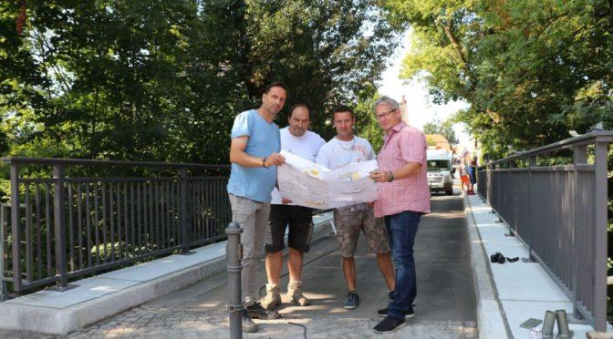 Gubener Schul-Brücke nach Sanierung wieder frei