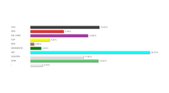 Die Gubener haben gewählt – Kommunalwahl 2019 (Stadtverordnete)