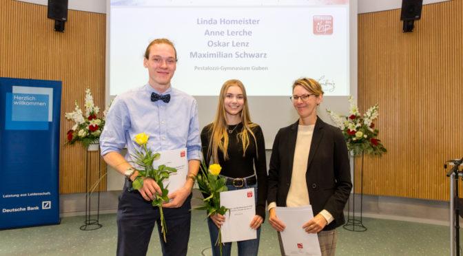 Förderpreis des IHP für Gubener Pestalozzi Gymnasium