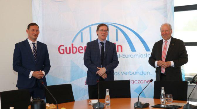 Staatssekretär Jobst-Hinrich Ubbelohde zu Besuch in der Eurostadt Guben-Gubin