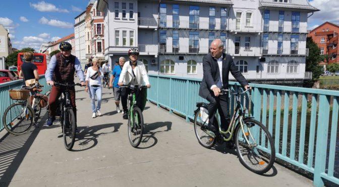 Europaministerin Katrin Lange zu Besuch in der Eurostadt Guben-Gubin